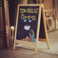 Photo taken at Gimme! Coffee by janelle g. on 5/26/2013