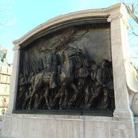 Photo taken at Robert Gould Shaw Memorial by Jared M. on 12/28/2015