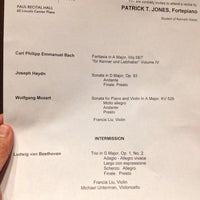 Photo taken at Paul Recital Hall at Juilliard by Jose S. on 10/6/2013