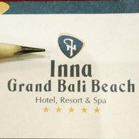 Photo taken at Inna Grand Bali Beach Hotel by Rafly C. on 9/23/2016