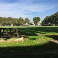 Photo taken at Vincent Square Playing Fields by Bill C. on 10/11/2015