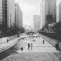 Photo taken at 광통교 by Janice L. on 1/26/2016