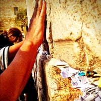 Photo taken at The Western Wall (Kotel) by Dini on 10/15/2012