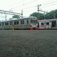 Photo taken at Stasiun Jatinegara by Donny S. on 2/4/2013