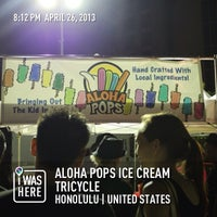 Photo taken at Aloha Pops Ice Cream Tricycle by Michael C. on 4/27/2013
