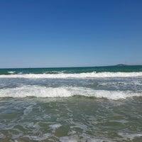 Photo taken at Южен плаж Бургас (South Beach) by Jenda Š. on 9/3/2016
