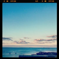 Photo taken at Cullercoats Beach by Adam B. on 7/3/2013