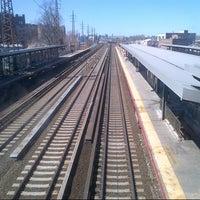 Photo taken at LIRR - Woodside Station by Jocelyn G. on 4/6/2013