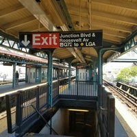 Photo taken at MTA Subway - Junction Blvd (7) by Philip Z. on 5/8/2016