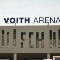 Photo taken at Voith-Arena by Pappklappe on 8/26/2013