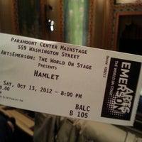 Photo taken at Paramount Center by Mirla Z. on 10/13/2012