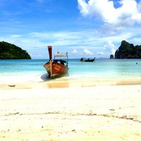 Photo taken at Phi Phi Island by victoria g. on 5/8/2013