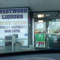 Photo taken at Westwood Liquors by Halsey L. on 1/27/2014