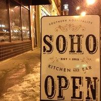 Photo taken at SOHO Kitchen & Bar by Caleb F. on 1/6/2013
