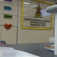 Photo taken at Unit Perancang Ekonomi Negeri Selangor UPEN by Ernie on 2/12/2015