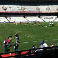Photo taken at Free State Stadium (Vodacom Park) by Francois N. on 9/29/2012