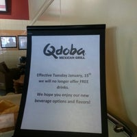 Photo taken at Qdoba Mexican Grill by Brian P. on 1/20/2013