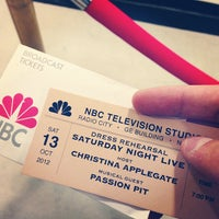 Photo taken at Studio 8H - Saturday Night Live by Jon S. on 10/13/2012