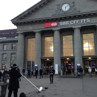 Photo taken at Bahnhof Biel / Gare de Bienne by Nicolas S. on 2/28/2013