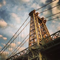 Photo taken at Williamsburg Bridge by adam s. on 8/16/2013