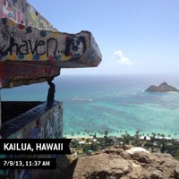 Photo taken at Lanikai Pillboxes Hike by Lara S. on 7/9/2013