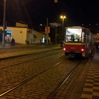 Photo taken at Malostranská (tram) by Ilja C. on 12/25/2012