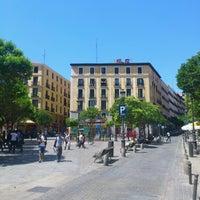 Photo taken at Plaza de Lavapiés by Miguel D. on 6/14/2012