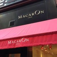 Photo taken at MacarOn Café by Juli W. on 10/21/2012