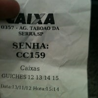 Photo taken at Caixa Econômica Federal by Diego B. on 11/13/2012