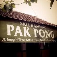 Photo taken at Sate Klathak Pak Pong Asli by mandella m. on 1/6/2013
