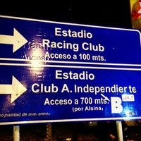 Photo taken at Estadio Juan Domingo Perón (Racing Club) by Juan C. on 6/22/2013