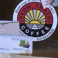 Photo taken at Slow Train Coffee by Erik N. on 9/17/2012