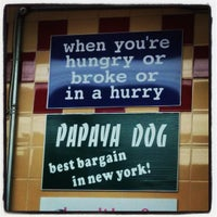 Photo taken at Papaya Dog by Vic C. on 9/26/2013