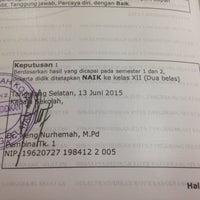 Photo taken at SMAN 2 Tangerang Selatan by Vega R. on 6/13/2015