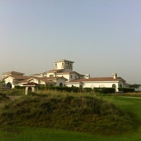 Photo taken at Yas Links Golf Course by Marko P. on 7/1/2013