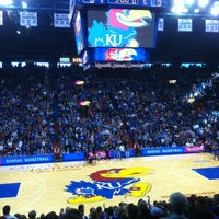 Photo taken at Allen Fieldhouse by Spencer D. on 1/6/2013