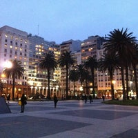 Photo taken at Plaza de Cagancha by Mi D. on 7/12/2013