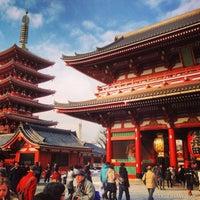 Photo taken at Senso-ji Temple by Thailand Walker on 1/18/2013