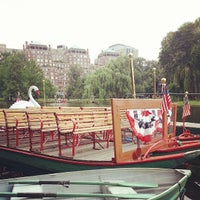 Photo taken at The Swan Boats by Lorenzo R. on 7/13/2013