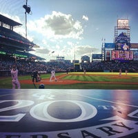 Photo taken at Coors Field by Jarrod P. on 5/22/2013
