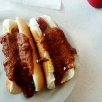 Photo taken at Hot Dog Heaven by Totem Soup Podcast (. on 1/12/2013
