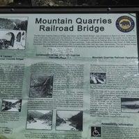 Photo taken at No Hands Bridge/Mountain Quarry Bridge by Ethan O. on 3/15/2014