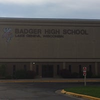 Photo taken at Badger High School by Tim N. on 6/24/2014