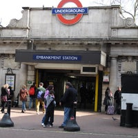 Photo taken at Embankment London Underground Station by Steve W. on 4/7/2013