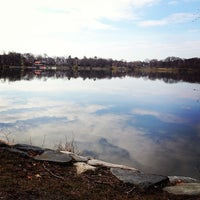 Photo taken at Jamaica Pond by Steve G. on 4/10/2013
