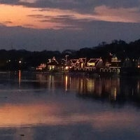 Photo taken at Boathouse Row by Kimberly M. on 10/15/2012