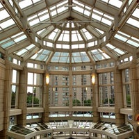 Photo taken at Prudential Center Courtyard & Garden by Hessah A. on 10/6/2013