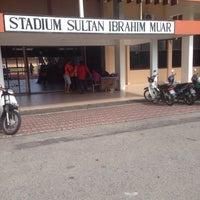 Photo taken at Stadium Sultan Ibrahim, Muar by Muhammad K. on 11/8/2014