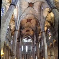Photo taken at Basílica de Santa Maria del Mar by Thanh N. on 5/1/2013