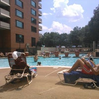 Photo taken at River Place Pool by Lukas Z. on 7/19/2015